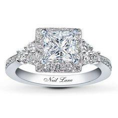 neil princess leo cut engagement ring at jared i