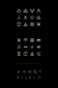 Enfant du Kult   Font on Behance symbols set