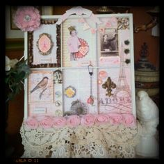 pretty pink and white tray
