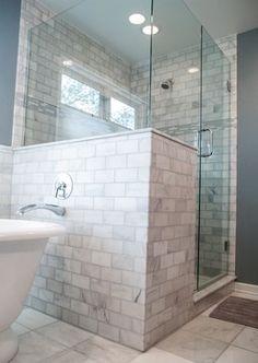Bathroom ideas on pinterest walk in shower vanities and for Mid size bathroom ideas