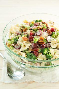 Lighter Broccoli, Grape and Pasta Salad