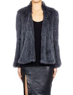Berry Queen Women's Euro Rabbit Fur Knitted Winter Coat #BerryQueen