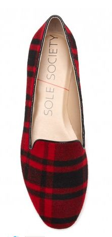plaid loafers!
