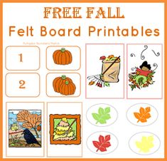 Free Fall Felt Board Printables #homeschool @Eren Mckay