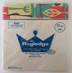 2 Packages of New Vintage Royaledge Shelf Liner Lining Paper and Edging 30' | eBay