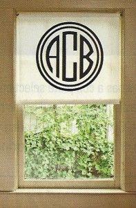 Monogram Window Shade
