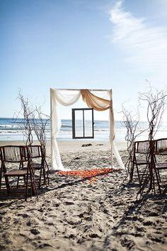 Romance meets rustic seaside  #Nordstromweddings