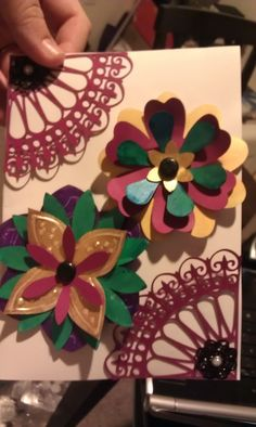 "one of the mother's day cards I made, using the ""flower shoppe"" and ""ornamental iron II"" cartridges!"