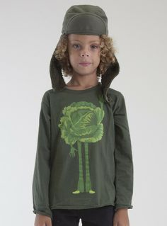 ESP no 1 - Peaceful Cabbage L/S Tee - Forest