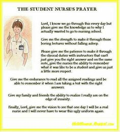 The student nurse prayer #student #nursing #nurse