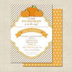 Pumpkin Fall Baby Shower Invitation - Project Nursery #invitation #halloween
