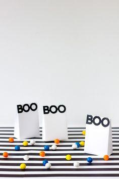Boo! Printable Halloween Treat Bags #FoPRR