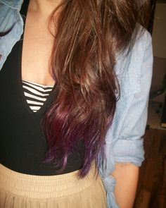 I am so doing this this weekend purple colored tips on brown hair! Brown Hair Purple Tips, Bandeaus, Brunette Hair, Blog, Hair Looks, Purple Tips On Brown Hair, Blues, Color Trends, Dip Dye