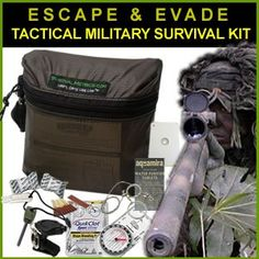 Escape & Evade Tactical Military Survival Kit since, we might be in need of this knowledge before it's all over...