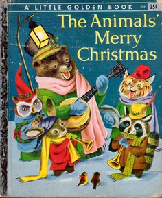 The Animals' Merry Christmas, Illustrations by Richard Scarry, 1950. Love the banjo