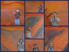 The Scream painting  with the kids in it!