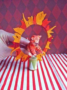 Small World Land papier mache circus animals