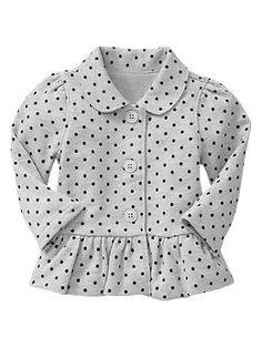 Knit peplum jacket | Gap