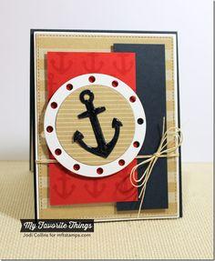 Go Overboard, Pinstripe Background, Striped Background, Go Overboard Die-namics - Jodi Collins