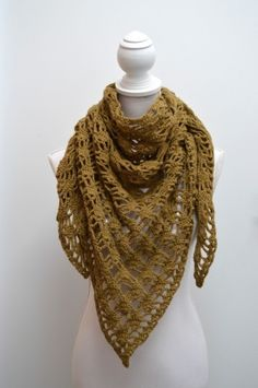 Haakpatroon sjaal / Crochet pattern shawl Drops Design