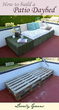 How to build a patio daybed using pallets  source img