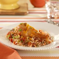 RO*TEL Fiesta Chicken: A spicy tomato turns ordinary chicken into Fiesta Chicken in this simple dinner recipe for Cinco de Mayo parties!