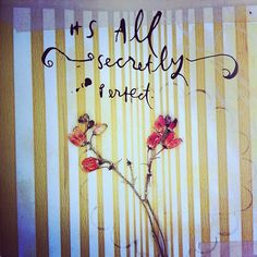 it's all secretly perfect