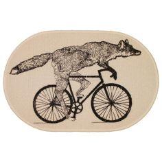 Fox on a Bike Rug
