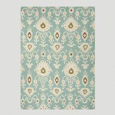 One of my favorite discoveries at WorldMarket.com: Aqua Jatana Flat-Woven Wool Rug