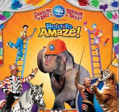"CIRCUS GIVEAWAY!!  Win Vouchers to See Ringling Bros. and Barnum & Bailey® Presents ""Built To Amaze!"" in July & August"