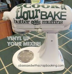 Cricut Vinyl up your Kitchen Aid Mixer!