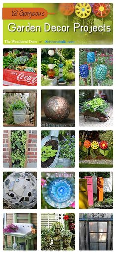 18 Gorgeous Garden Decor Projects   curated by 'The Weathered Door' blog!