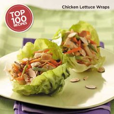 Chicken Lettuce Wraps Recipe from Taste of Home #Top_100 #Recipe