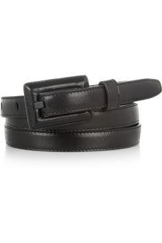 Saint Laurent|Leather skinny belt|NET-A-PORTER.COM