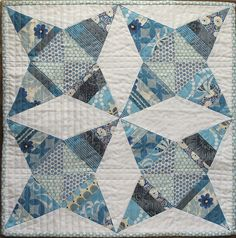 quilt in blues