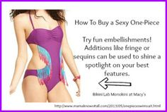 One piece swimsuits can totally be sexy. Here are some tips for shopping for them.