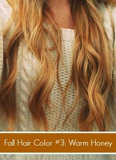 Like her blonde was dipped in honey! Warm honey blonde hair for fall and other fall hair color trends. #fallhair