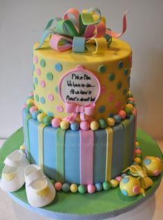 baby shower cakes, baby shower ideas, gender reveal cakes, blues, stripe, babi shower, cake fixat, spot, baby showers