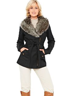 SavoirFur Collar Waxed Quilted Jacket