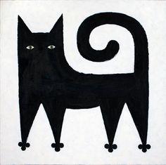 Cat original art painting oil on canvas by AnnaCreative on Etsy