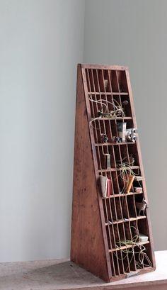 Industrial Designed Letterpress Wood Display via Etsy