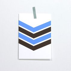 chevron note card / #etsy
