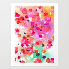 free shipping Candy Petals Art Print by Yaz Raja - $20.00