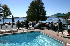 Meetings - Eating Lunch by the Pool!