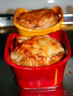 Cheater French Onion Soup made with JJ's day old bread!