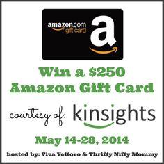WIN a $250 Amazon Gift Card courtesy of Kinsights!