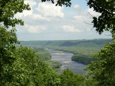 Mississippi River from Wyalusing State Park, Wisconsin
