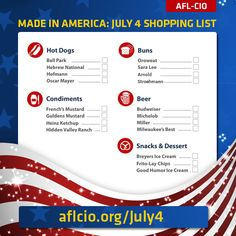 Fly the Flag and the Union Label This July 4th http://www.aflcio.org/July4 #1u #July4