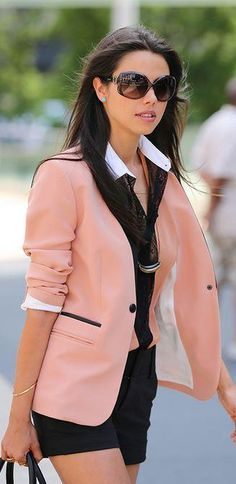 jacket, street fashion, blazer, fashion styles, dress, outfit, street styles, blush pink, cupcake toppers