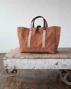 Beautiful waxed canvas tote from Artifact Bags